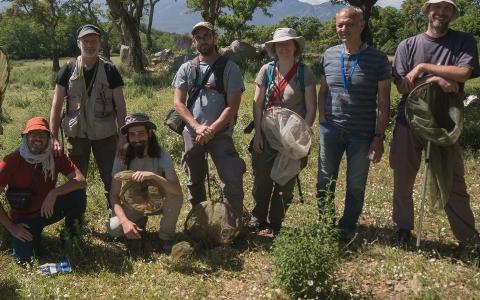 Une partie de l'équipe La Planète Revisitée en Corse 2021, volet terrestre