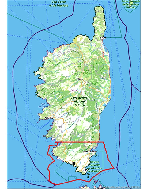 Localités et habitats marins échantillonnés en 2020 © G. Marani / MNHN